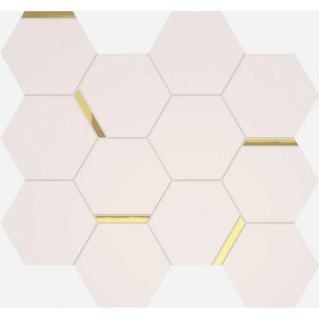 Италон 3D Мозаика Шик 30x30 Белый с золотым